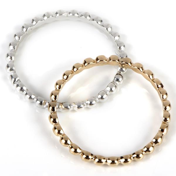 anneau perlé